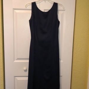 Navy Floor Length Formal